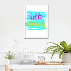 Hello Summer Print- Digital Download