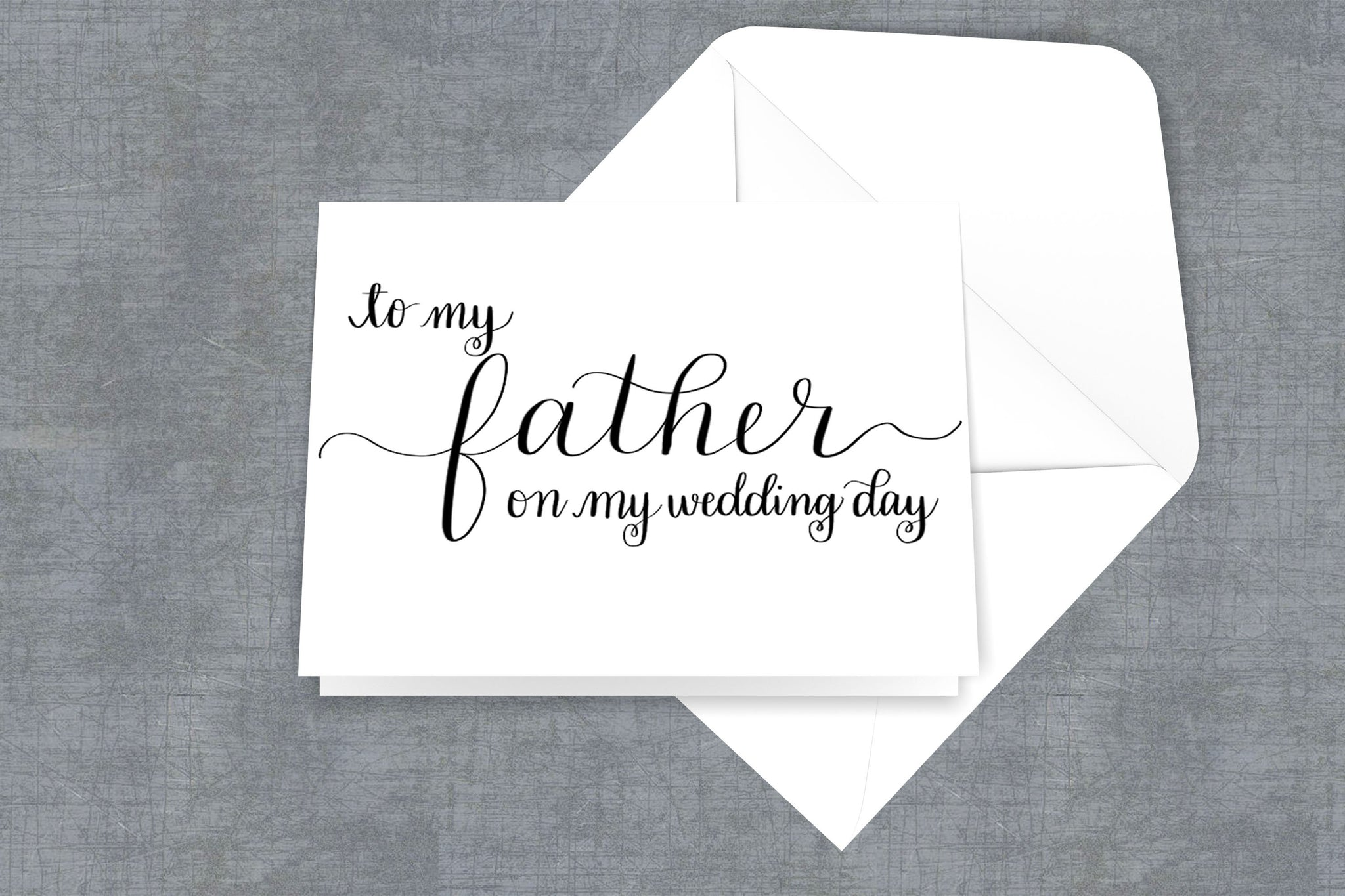 To My Mother on My Wedding Day, To My Father on My Wedding Day