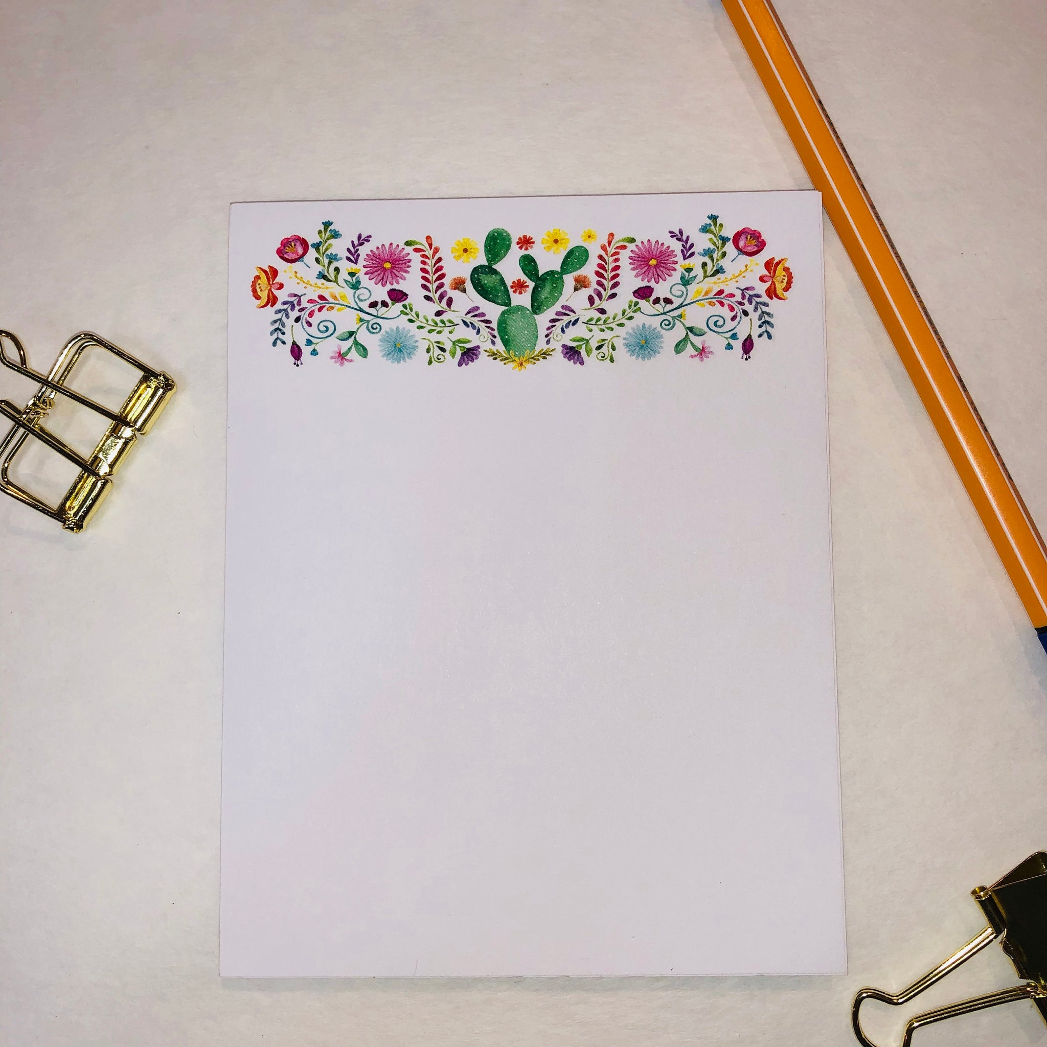 Succulent and Floral Notepad