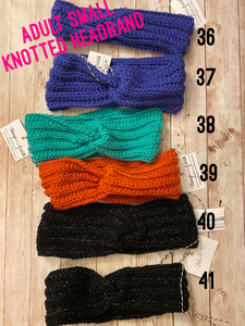 Crocheted Headbands- Adult, Knotted
