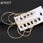 SOHOT Fashion Big Small Nickel Free Hoop Earrings 8 Sizes Party Jewelry Accessories for Women OL Mother Day Gift Wholesale Price