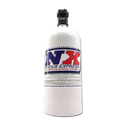 Nitrous Express - 10 LB BOTTLE W/ LIGHTNING 500 VALVE (6.89 DIA. X 20.19 TALL)