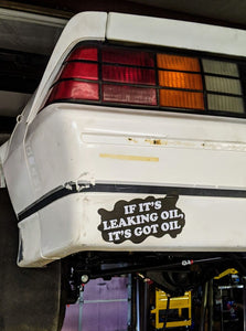leaking oil sticker farmtruck and azn daily rusty