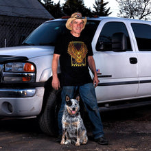 Farmtruck and Suzy Lu wearing Farmbird t-shirt