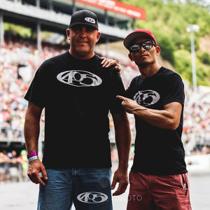 AZN and Jeremy Wilson wearing 405 shirts standing proud