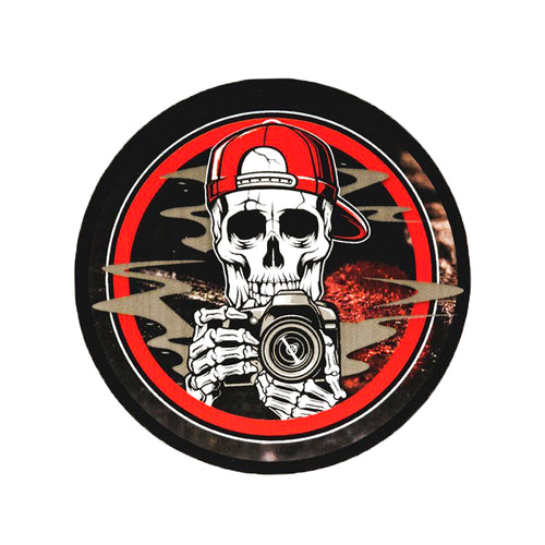405 Photo Skull Decal