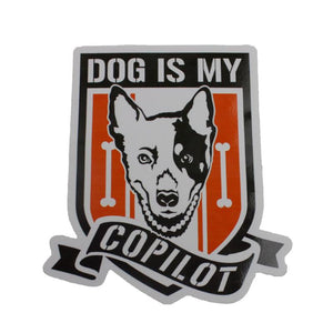 Dog Is My Copilot Decal - Dog