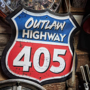 """Outlaw Highway 405"" Highway Sign"