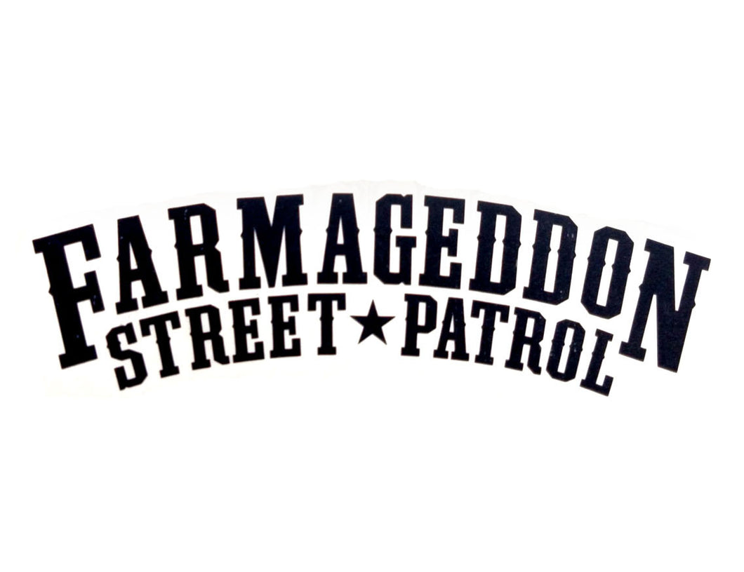 Farmageddon decal sticker black