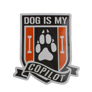 Dog Is My Copilot Decal - Paw
