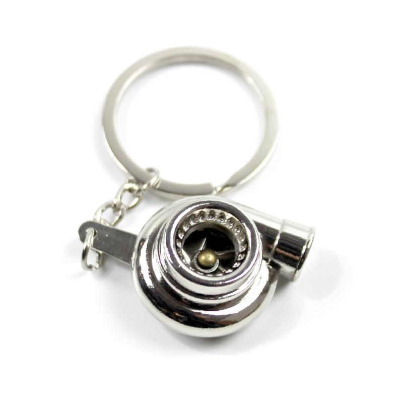metal turbo keychain chrome