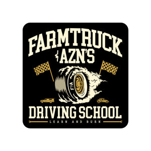 Farmtruck and AZN's Driving School - Sticker