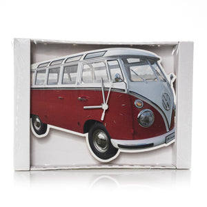 VW Collection - VW T1 Bus Wall Clock  by BRISA - Classic Red