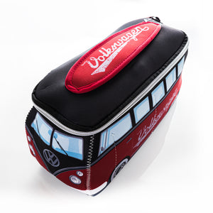 VW Collection - VW T1 Bus 3D Neoprene Small Universal Bag by BRISA - RED/BLACK - GREEN/PEACE