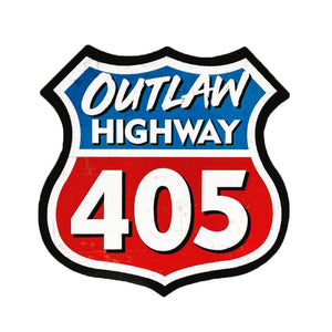"""Outlaw Highway 405"" Highway Marker Decal"