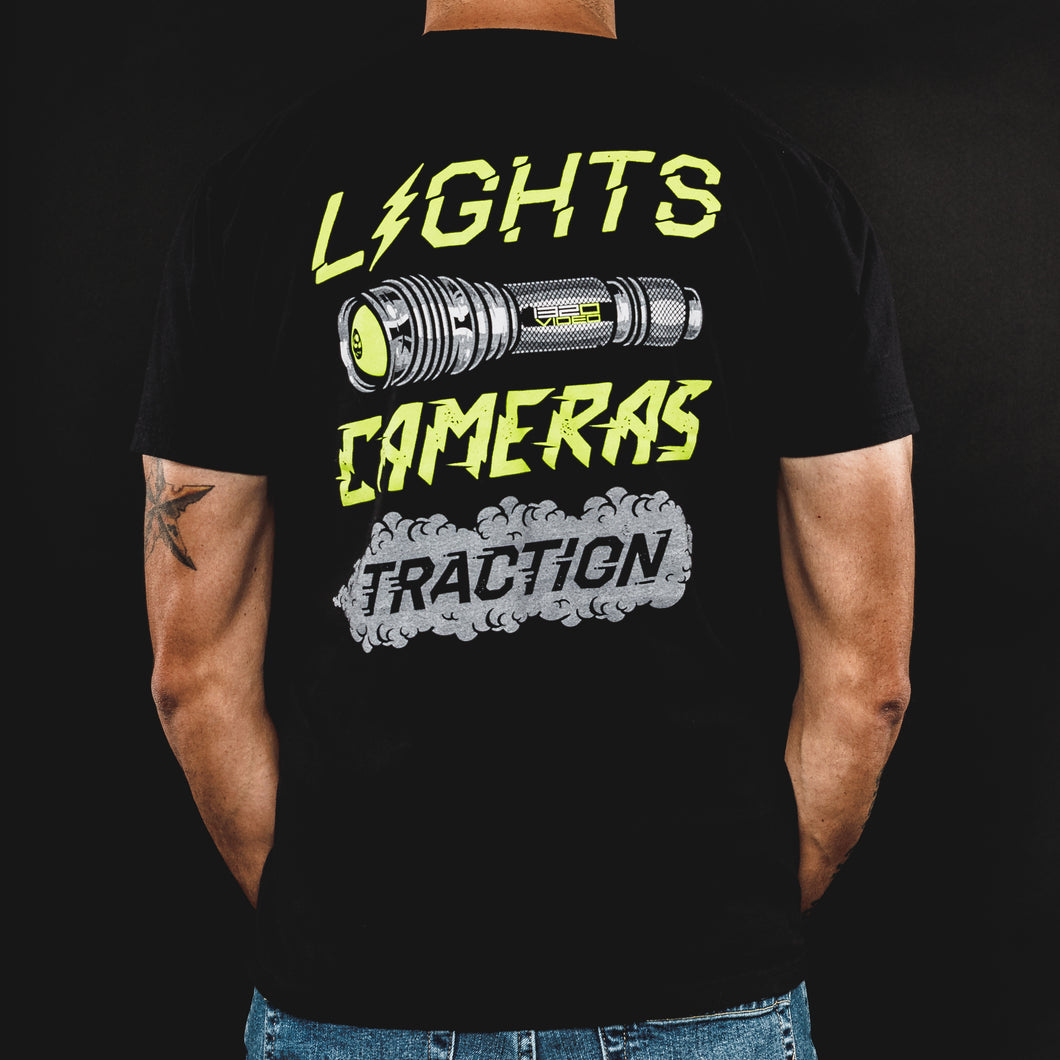 405 - Lights Camera Traction Tshirt