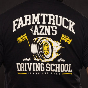 farmtruck and azn driving school learn and burn tshirt