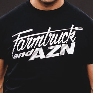 Farmtruck and AZN T-Shirt Black