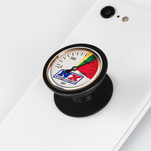 Nitrous Gauge printed on phone popper black pop socket