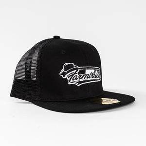 Black w/ White Farmtruck Logo Hat - Snap Back