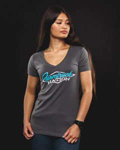 Women's Farmtruck Nation V-Neck - Teal