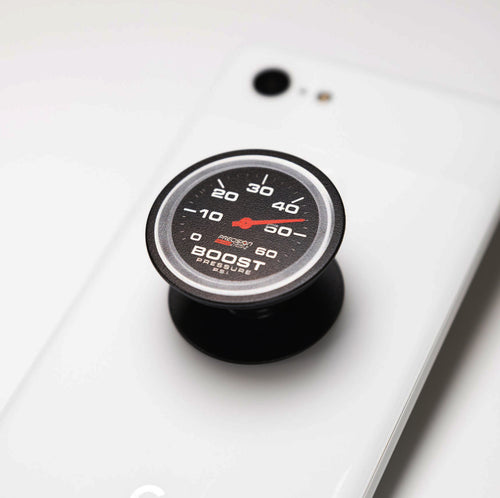 Boost Gauge printed on phone popper black pop socket