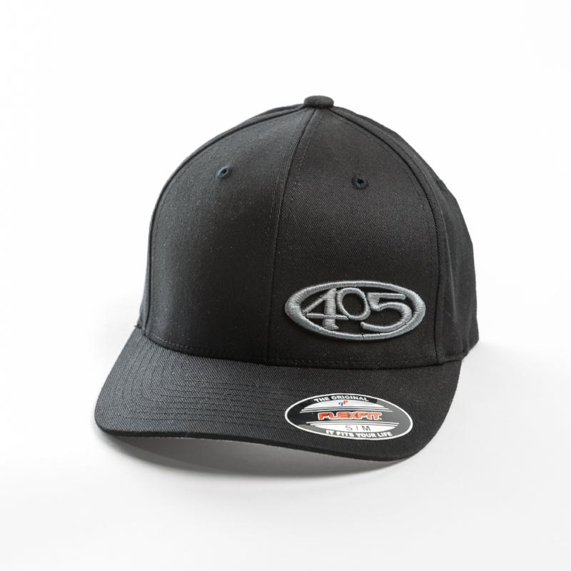 Black 405 hat grey logo