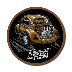 farmtruck and azn dung beetle car sticker