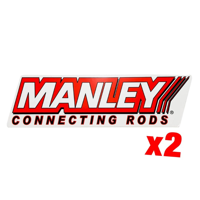 Manley Connecting Rods Sticker - 2PK