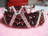 Crystal and Pearl Triangle Bracelet