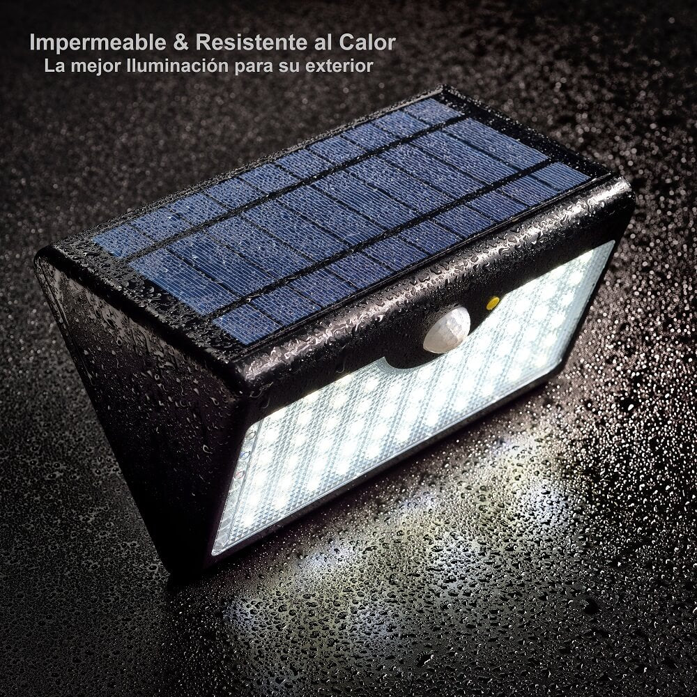 lámpara solar led impermeable apliques de pared