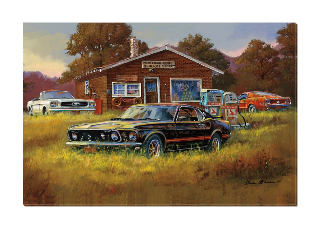 """Mustang Country"" Canvas"