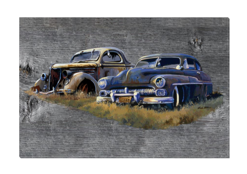 """Ford & Merc"" Canvas"