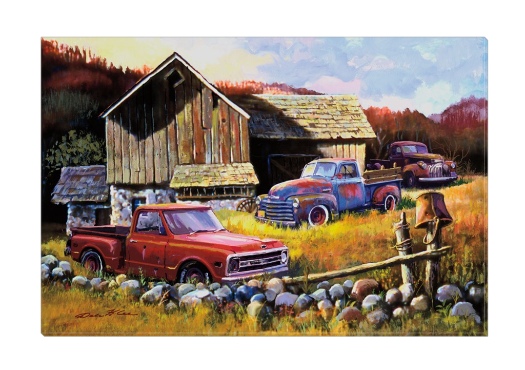"""Retired Workers"" Canvas"