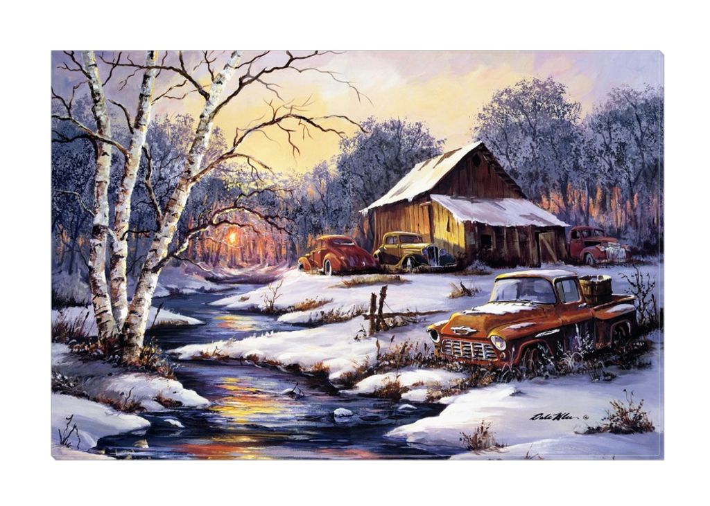 """Winter Sunset"" Canvas"