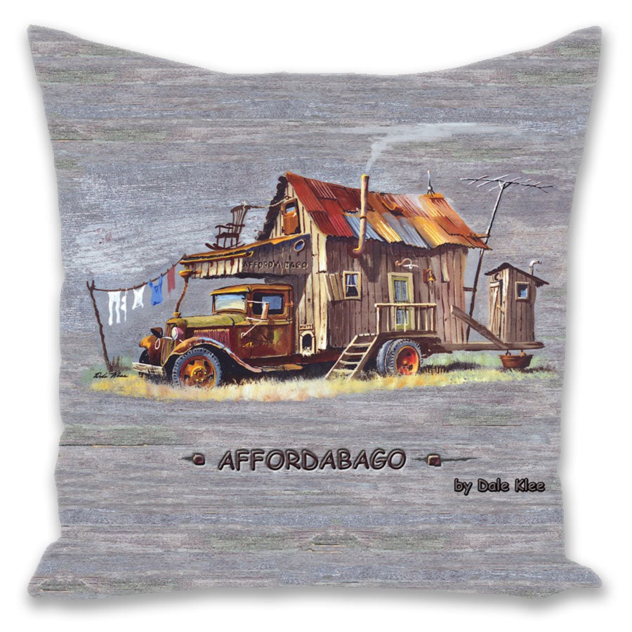 """Affordabago"" Throw Pillow"