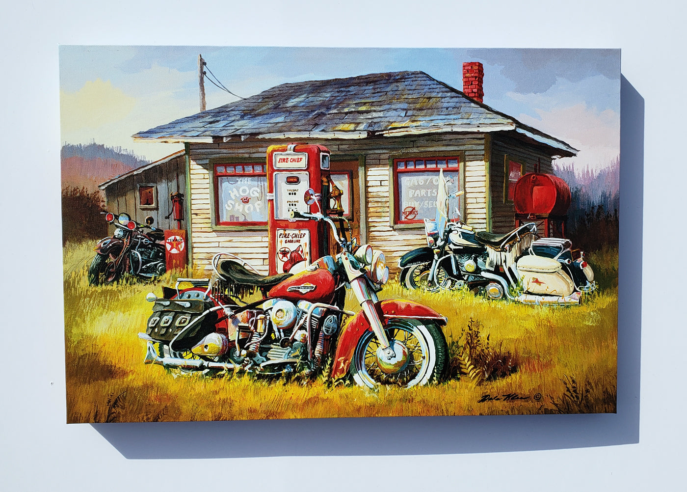 """The Hog Shop"" Canvas"