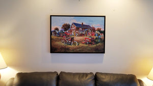 """Junk Collector"" Framed Canvas"