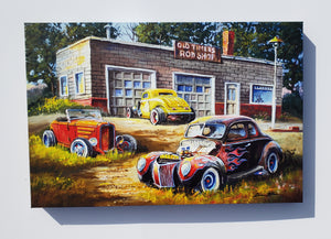 """Old Timers"" Canvas"