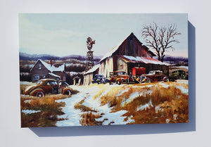 """Winter Farm"" Canvas"