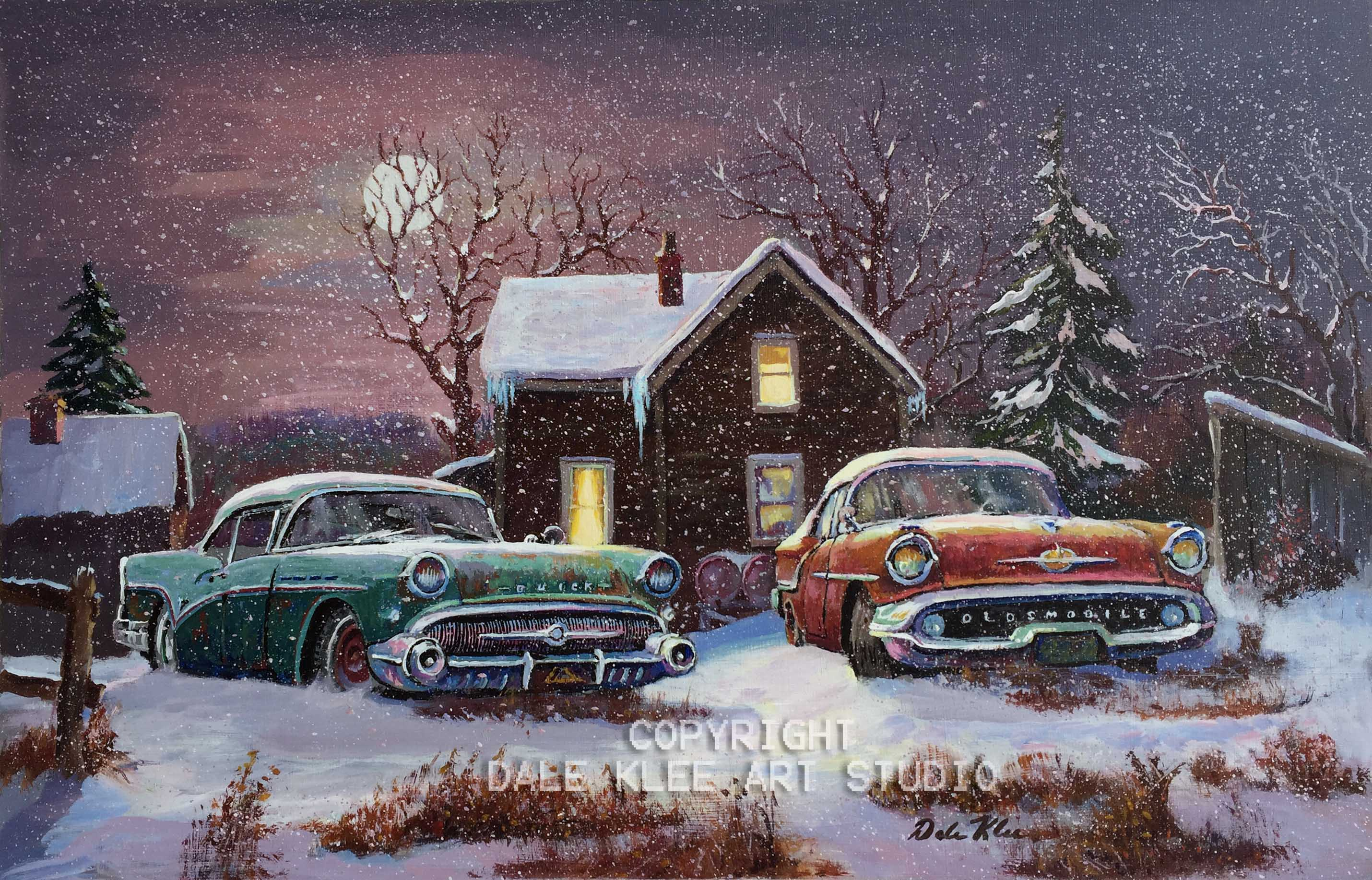 """SNOWY WINTER NIGHT"" (Sorry, Original Painting is SOLD )"
