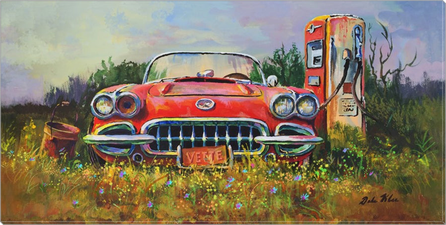 """Vette By a Pump"" Canvas"