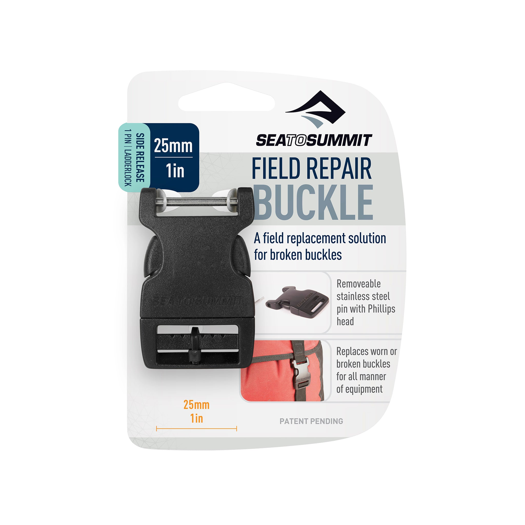 Field Repair Buckle _ Side Release _ 1 Pin for replacement parts _ 25 mm