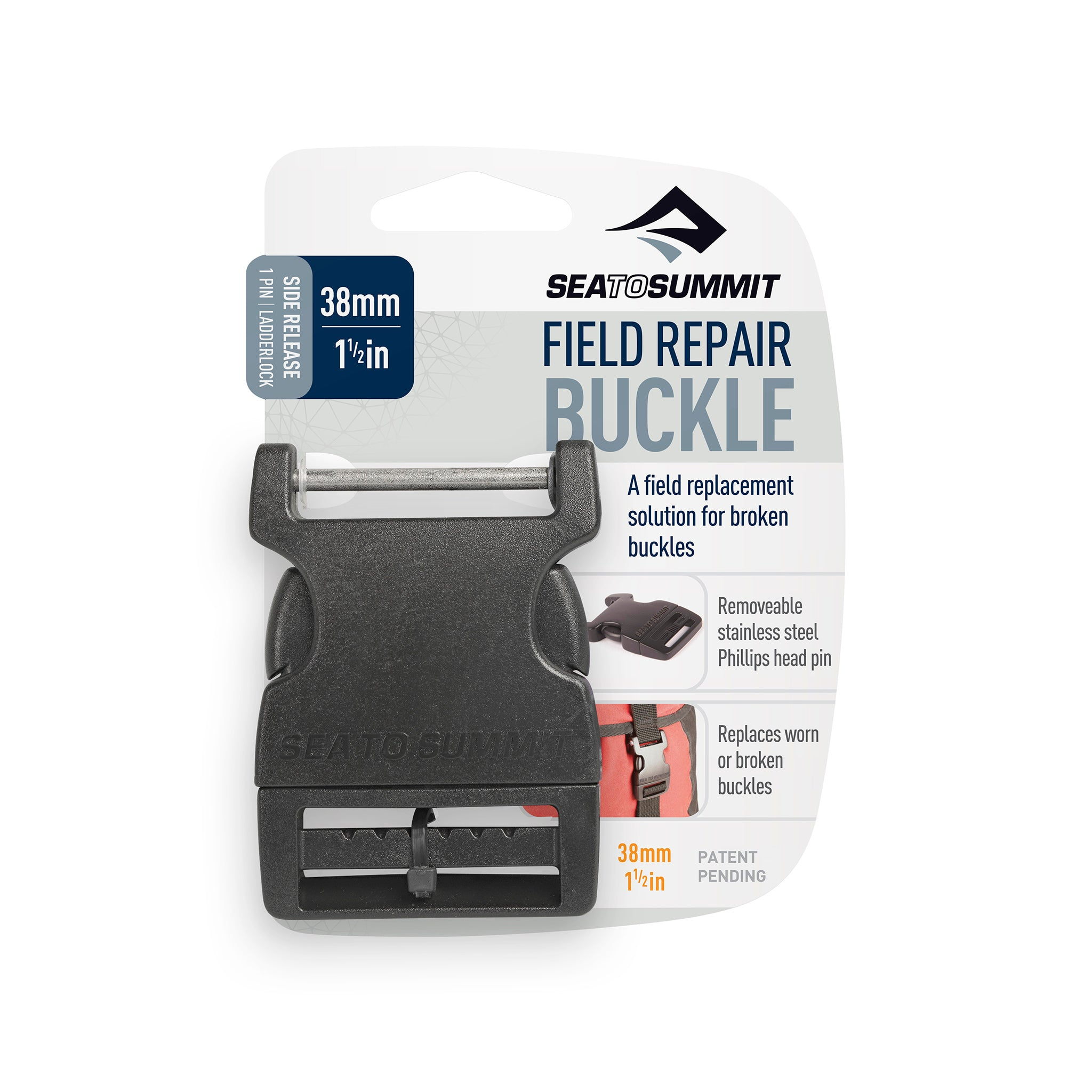 Field Repair Buckle _ Side Release _ 1 Pin for replacement parts _ 38 mm