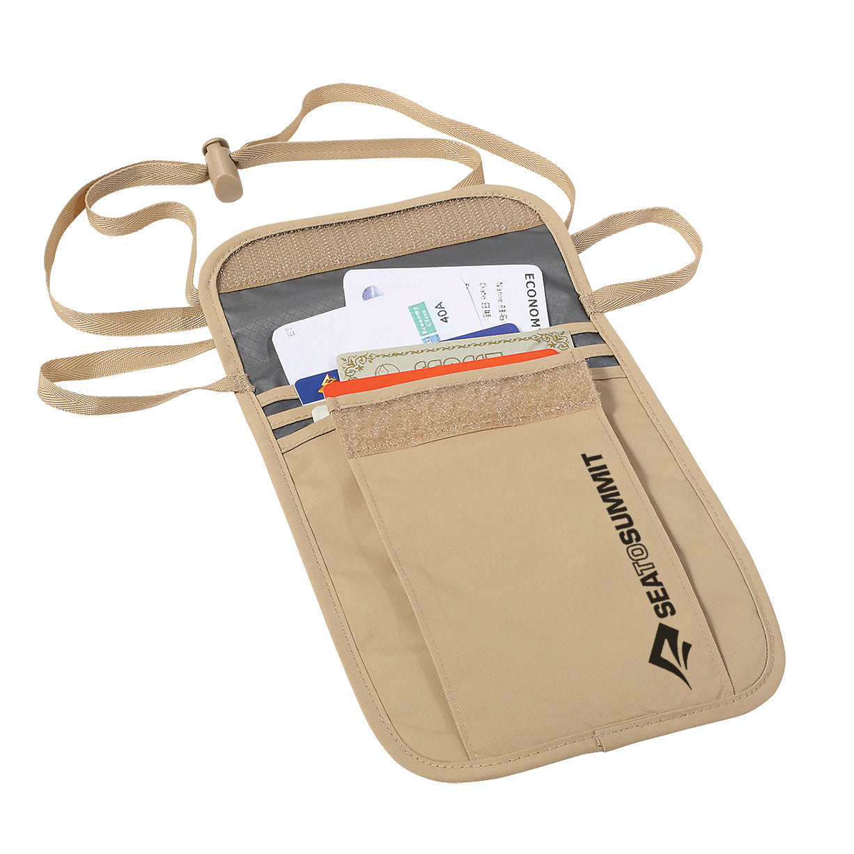 Travel Hanging Neck Pouch _ passport holder _ sand