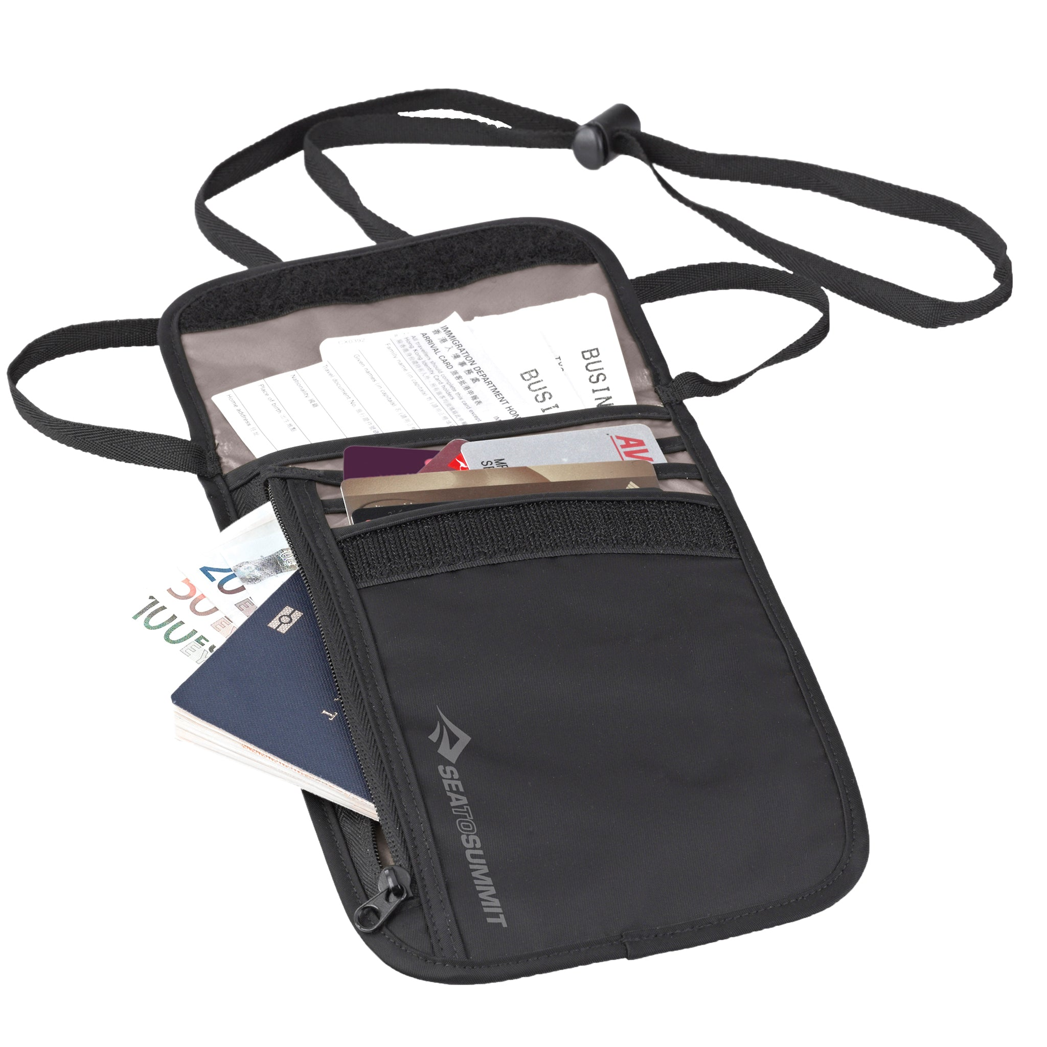 Travel Neck Wallet _ security _ black