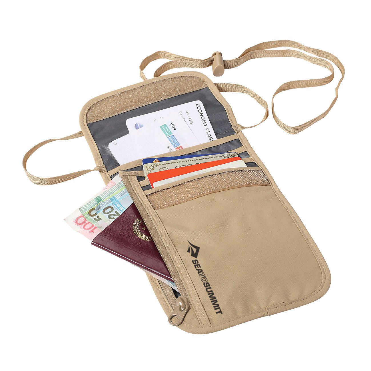 Travel Neck Wallet _ security _ Sand