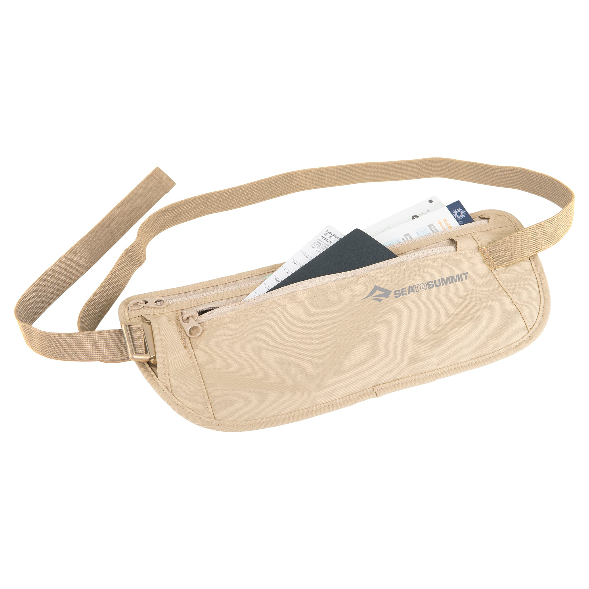 Travel Money Belt _ hidden travel wallet _ sand