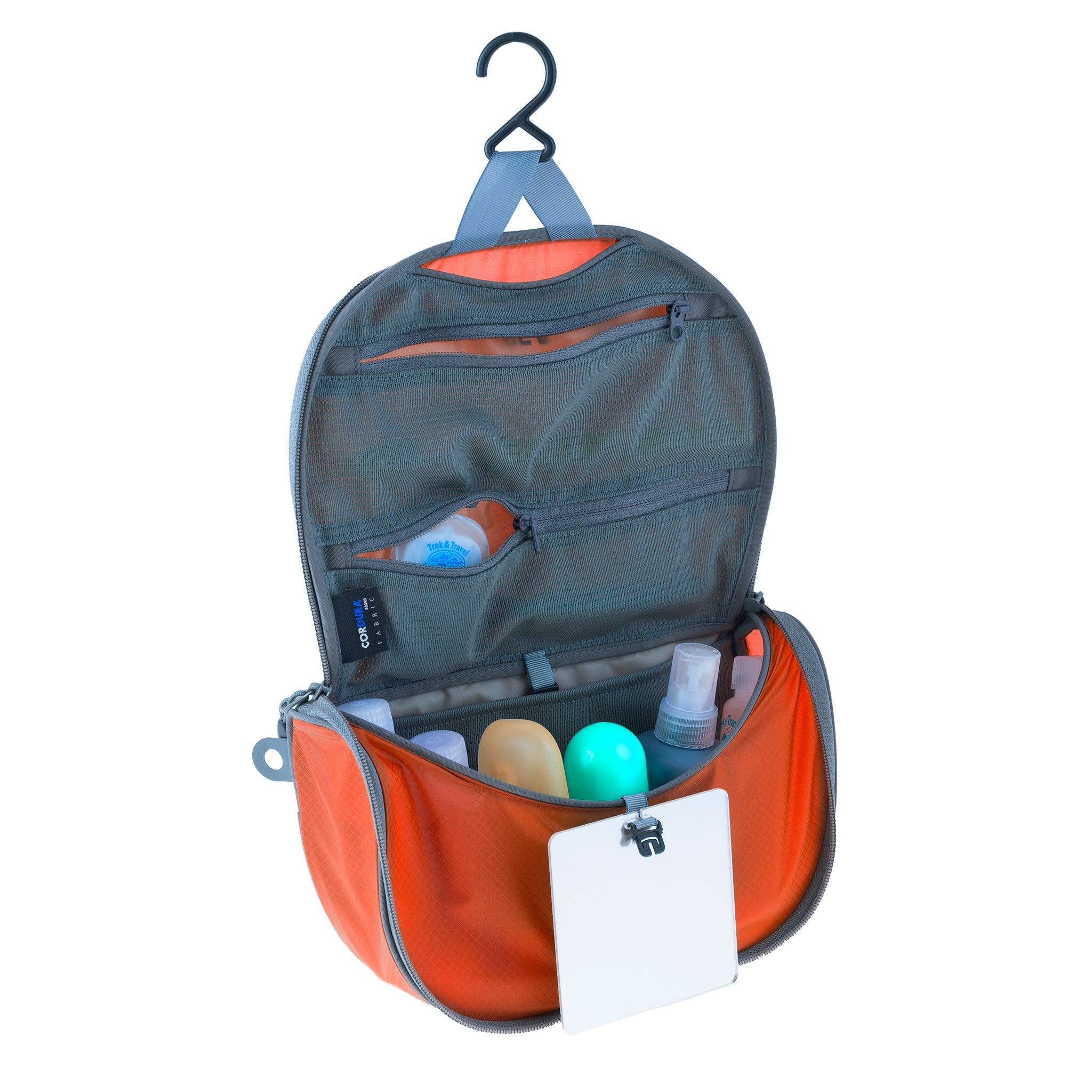 Travelling Light _ Hanging Travel Toiletry Bag _ Orange