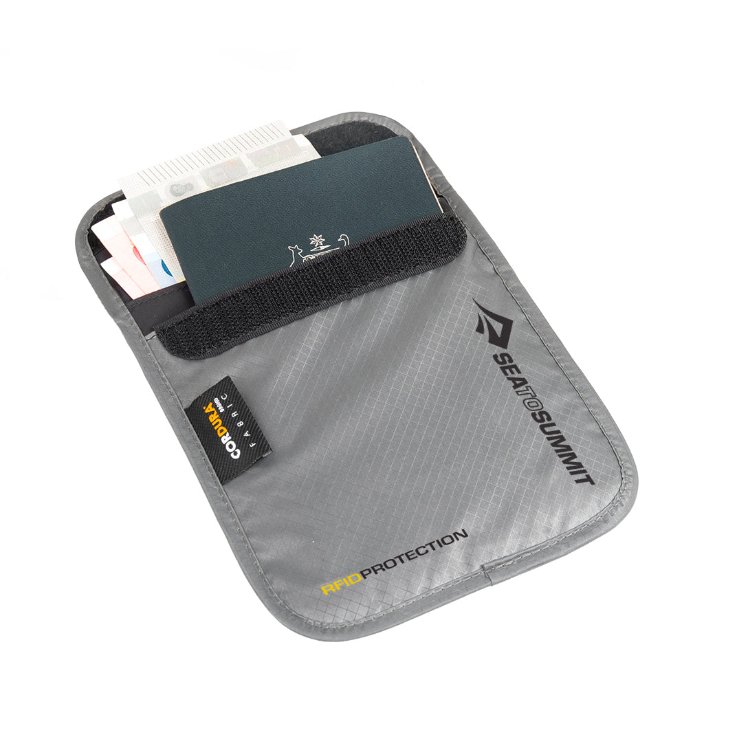 RFID Neck Pouch _ hidden passport wallet _ small